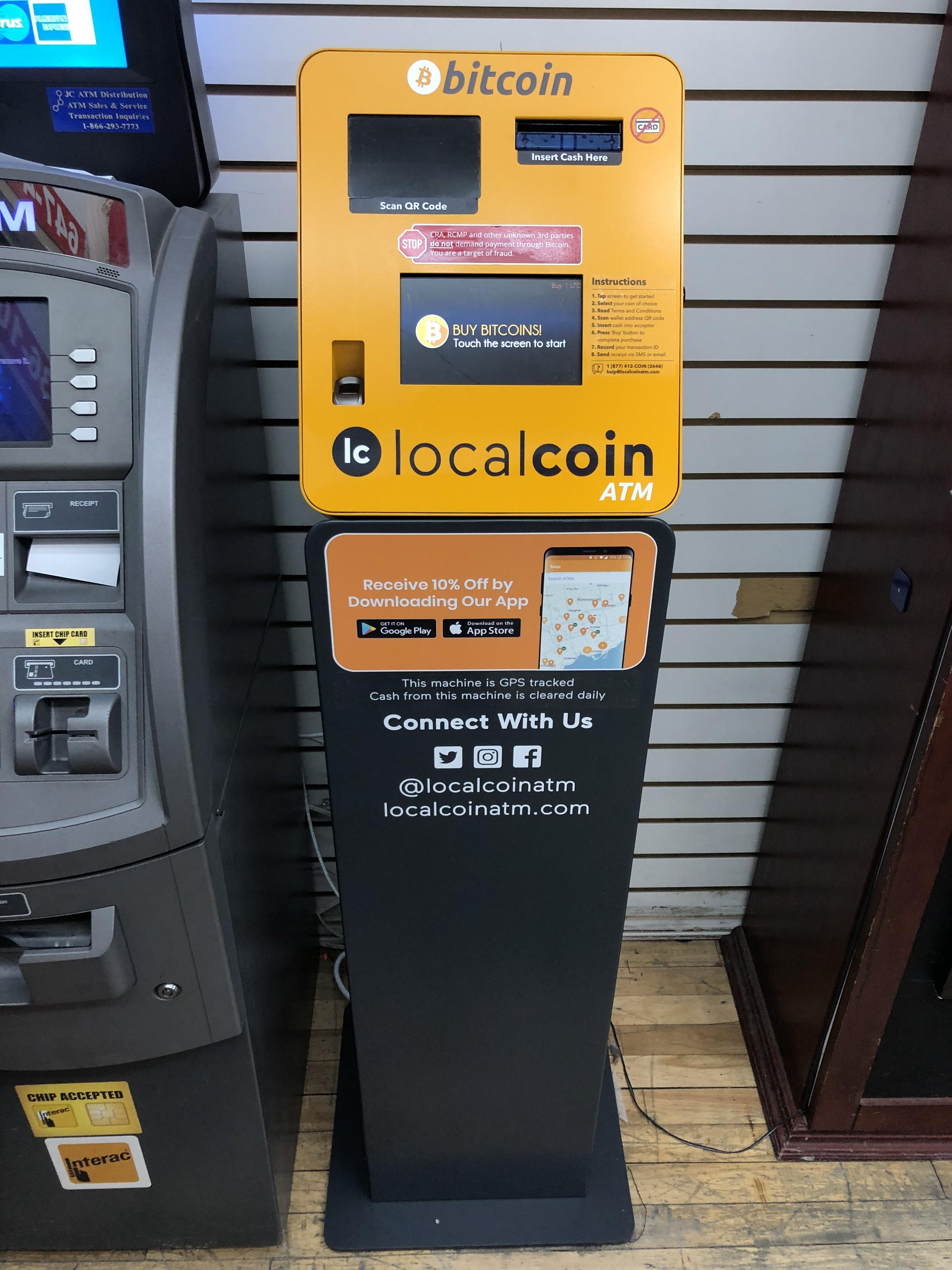bitcoin macchina downtown toronto